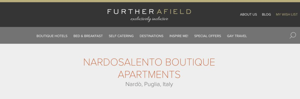 Furtherafield Nardosalento boutique apartments puglia