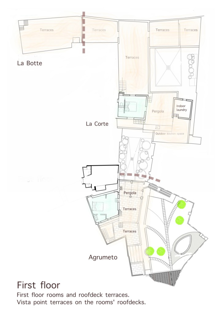 La Casa Grande vacation rental first floor map